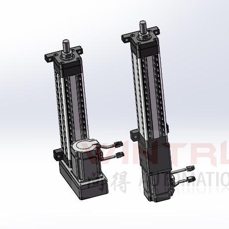 脚座式安装电动缸示意图 上海问得
